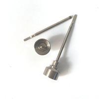 Universal 2 en 1 Titanium Nail 18 / 20mm Domeless GR2 Titanium Cap Titanium Casquette Dabber Tool pour Tuyaux d'eau de cire Sèche Bongs en verre