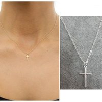 قلادة القلائد الأزياء بسيطة إنفينيتي الذهب الصغيرة الصليب قلادة قلادة سلسلة مجوهرات لذيذ المرأة صليب كريستيان 1