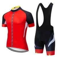 남성용 MAVIC 팀 사이클링 저지 레이싱 자전거 셔츠 턱받이 반바지 사이클링 의류 통기성 MTB 자전거 운동복 Ropa Ciclismo S110
