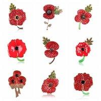 Pines, Broches Aleación de zinc Poppy Broche UK Princess Souvenir Pin Esmaltado Flor Roja Comunidad de Naciones Pins1