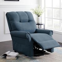 ABD Stok Gri Elektrikli Asansör Yatan Sandalye Rahat Kumaş Ayarlanabilir Güç Recliner Sandalye Tek Kanepe Ev Lounge Sandalye W22318490