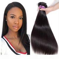 9A 훌륭한 품질 인간의 머리카락 직조 실크 스트레이트 3 또는 4 번들 로트 저렴한 브라질 레미 헤어 위사 100 % 인간의 머리카락