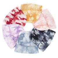 Czapki WZCX Krawat Dye Stripe Kołdry Kulki Utrzymuj Ciepłe Outdoor Women Koreański Wersja Hip Hop Winter Kapeluszowa Czapka narciarska