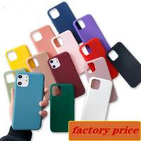 logo personalizzato di colori della caramella opaca TPU telefono cellulare antiurto posteriore della copertura del silicone di caso per l'iphone 12 mini pro 11 X XS MAX XR 7 8 Plus SE