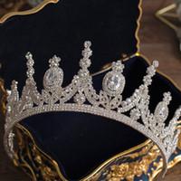2021 Luxury диадемы и короны принцессы Pageant Обручальное оголовье Свадебные аксессуары для волос Вечерние платья Свадебные украшения