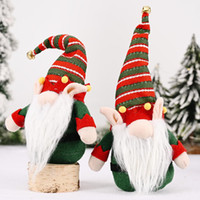 35 * 12cm di Natale Gnomi Faceless Doll rosso verde Natale ornamenti Decorazioni di Natale regali della bambola lunghe orecchie Foresta Man XD24121