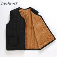 Men's Vests CHAIFENKO Men Autumn Winter Vest Fleece Warm Waistcoat Fashion Casual Thick Inner Wear Sleeveless Jackets