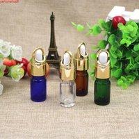 Бесплатная доставка 5ML пустые стеклянные парфюмерные пакеты капельницы флаконы высшего класса мини-парфюмер эфирное масло образца упаковки контейнеров