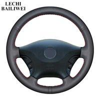 Bricolage noir en cuir artificiel cousu main direction roue de voiture Couverture pour Vito 2010-2020 Viano W639 2006-2011