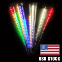 유성 샤워 비 조명, 50cm 10 나선형 튜브 480 LED 방수 드롭 / 고드름 눈 떨어지는 문자열 조명, 지원 2 세트 후크를 함께 지원