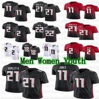 2021 Hommes Femmes Jeunesse Football 21 Todd Gurley II 2 Matt Ryan 11 Julio Jones Ridley Jersey
