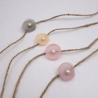 Gorras sombreros artesanía flor de gasa con perla linda diadema mezcla 4 colores accesorios para el cabello nacido bebé pofografía propago