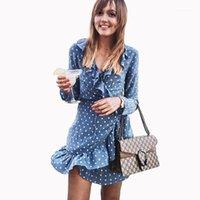캐주얼 드레스 여름 여성용 Boho 귀여운 해변 섹시한 인쇄 빈티지 꽃 프린트 V 넥 미니 Vestidos 드레스 여성 sundress1