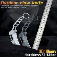Yeni D2 Blade Quartermaster Karambitler Pençe Bıçak Açık Kamp Orman Survival Savaş Karambitler CS Sabit Bıçak Avcılık Savunma İtme Bıçak