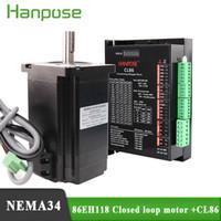 Hybridstufen-Servomotor NEMA34 CNC-Schrittmotor-Kit 86H118A6001 und CL86 Closed-Loop-Servo-Treiber für CNC-Fräsmaschine