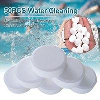 50 ADET Yüzme Su Temizleme Küvet Klor Spa Carifier Anında Efervesan Tabletler Çok Amaçlı Havuz Temizleyici