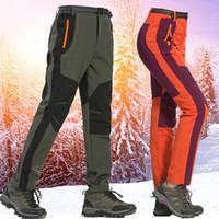 Outdoor Wasserdichte Wanderhose Winter Männer Frauen Softshell Hosen Warme Fleece Camping Radfahren Hose Übergroßes Dropship