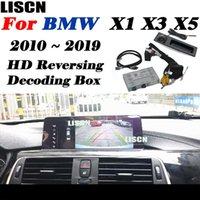 Vue arrière Vue arrière Caméras Capteurs de stationnement Caméra pour X1 x3 x5 2010 ~ 2021 Adaptateur d'origine Système de mise à niveau d'origine Système de surveillance Plaque d'immatriculation de la plaque d'immatriculation décal.
