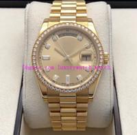 Relojes de lujo de papel de caja original 118348 41mm Dial Dial Oro pulsera de acero inoxidable Asia 2813 Relojes de pulsera mecánicos automáticos para hombre