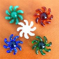Perle de spinner en verre pour ventilateur coloré de quartz pour 25mm Banger DAB verre Bongs Bongs Plateau de verre Borocilicate Spinny