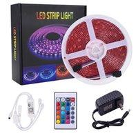 Vente chaude à distance 10 contrôle 12V-5050 RGB Wifi Mètres 24 Clés 300 lumières (40W) Light Strip double disque String Ribbon lampe Tape