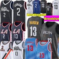 Harden Jersey 13 Harden Jersey Kawhi 2 New Leonard Jersey High Paul 13 Джордж майки 2020 2021 Мужская баскетбольная майки S-XXL