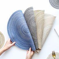 Hand Made tessuto ramiè Placemat Circolare multi colori di isolamento Anti Slip Table Pad Hot alimentari Coppa Bowl Pan Mat 4 L2 3DY