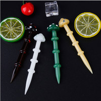 WDT003 Colorful Mushroom Glass Wax Dab Tool Dabber Tool For ...