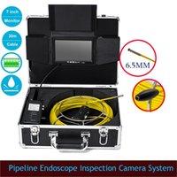 6,5 millimetri impermeabile Monitor LCD Pipeline endoscopio sistema della macchina fotografica di ispezione 30m cavo da 7 pollici fotocamera industriale con 6pcs LED bianchi