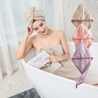 Haarhandtuch Mikrofaser Weiche Schnelltrocknung Haar Hut Dusche Kappe Handtuch Dame Dicke High Turban Geschenk
