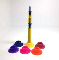 Silicone Ego Sucker ventosa Supporto Display stand base del supporto del silicone portatile E-sigaretta tappi di gomma Vape Pen