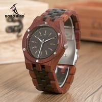Bobo pássaro wn18 relógios de madeira erkek saatler top luxo banda de madeira relógio de quartzo para homens laser personalizado dropshipping lj201124