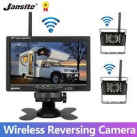 Vue arrière Vue arrière Caméras Capteurs de stationnement Jansite 7 pouces Camion caméra Kit sans fil 12V-24V Monitor pour RV Bus Minivan Camper Van Van Van Image inverse