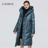 Gazman Yeni Moda Sıcak Parka kadın Kış Ceket Uzun Kalın Dış Giyim kadın Ceket Marka Kirpi Aşağı Ceket Artı Boyutu 206 201102