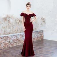 파티 드레스 저녁 긴 인어 공식 드레스 Vestido de Fiesta Largos Noche elegante 2021 Prom Wed905941