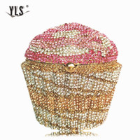 المرأة البسيطة كب كيك الفاصل مساء حقيبة فاخرة كريستال الزفاف محفظة أزياء كوكتيل حزب الماس Minaudiere يد Q1113