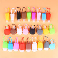 30ml Blank Hand Sanitizer Holder Portatile Portable Bottle Bottle Supporto Gel Holder Alcol Liquido Soap Dispenser Contenitori Silicone 122 K2