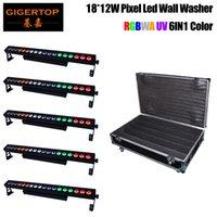 TIPTOP 5IN1 Roadcase Emballage Led * 12W Projecteur 18pcs 220W RGBWA UV Luminosité / Projets extérieurs LED laveuse Light Bar Noël Led