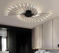 الشمال الإبداعي السقف الثريا غرفة المعيشة بسيطة الحديثة الجو ضوء الفاخرة غرفة نوم الذهب الألعاب النارية