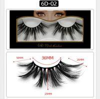 Super Long 25мм 6D норка Ресницы Драматический Real норка волос Lashes 25 мм ручной Ложные Ресницы