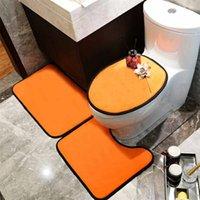 Мода сиденья унитаза наборы крытых дверных ковриков U MATS костюмы абсорбирующие коврики ванной комнаты 3 шт.