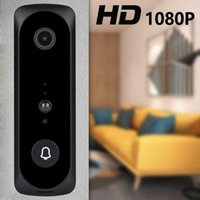 V20 Smart Wifi Video Camera Camera Visual Intercomunicador com Chime Night Vision IP Bell Bell Wireless Home Security Camera Black1