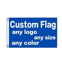 Benutzerdefinierte Flags 3x5ft 150x90cm Digital gedruckte Free Design 100D Polyester Sportmannschaft Hängender Werbung Outdoor Indoor, freies Verschiffen
