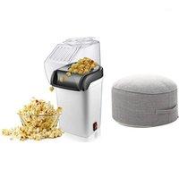 1 conjunto de máquina de pipoca de ar fabricador eu plug 1 pcs redondo alta resistência esponja assento assento cadeira almofadas1