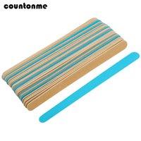 File per unghie di legno 100pcs / lot per manicure Slim tampone di levigatura file di levigatura di legno drive doppi lime un lime un chiodo di alano utensili
