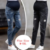 GB-Kcool Mutterschaft Jeans für Schwangere Schwangerschaft Hosen elastische Taille Schwangerschaft Kleidung Plus Size Schwarze Jeans Schwangere C1009