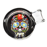 HONEYPUFF New Skull Handmade Glass Cigarette Cigar Ashtray O...
