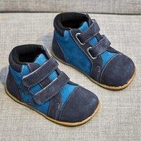 Tipsietoes новые зимние дети босиком обувь кожаные сапоги малыша малыша дети снежные мальчики резиновые модные звезды кроссовки Bota Y201028