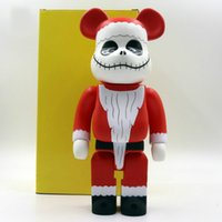 TJ 28cm bearbricks 400% Christmas Fright Night Action figures Enamel material toys kaw