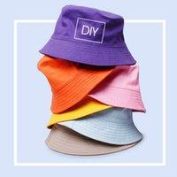 Blank Kids Bucket Hats Baby Boys Girls Caps Planeada Pesca Sombrero Algodón Sombrero Sombrero Playa de verano